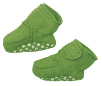 Disana Boiled Wool Booties Color: Green