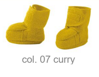 Disana Boiled Wool Booties Color: Curry