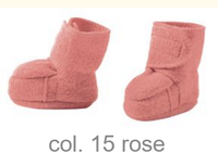Disana Boiled Wool Booties Color: Rose