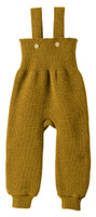Disana Organic Wool Knitted Overalls Color: 458 Gold