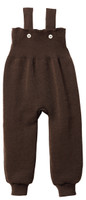 Disana Organic Wool Knitted Overalls Color: Chocolate