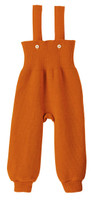 Disana Organic Wool Knitted Overalls Color: Orange