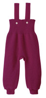 Disana Organic Wool Knitted Overalls Color: Berry