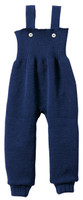 Disana Organic Wool Knitted Overalls Color: Navy