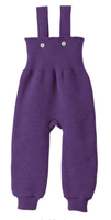 Disana Organic Wool Knitted Overalls Color: Plum