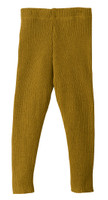 Organic Merino Wool Knitted Leggings Color: Gold