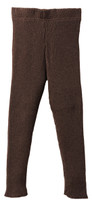 Organic Merino Wool Knitted Leggings Color: Chocolate