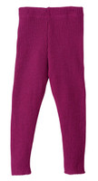 Organic Merino Wool Knitted Leggings Color: Berry