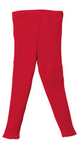 Organic Merino Wool Knitted Leggings Color: Red