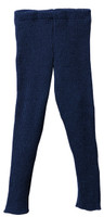 Organic Merino Wool Knitted Leggings Color: Navy