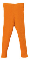 Organic Merino Wool Knitted Leggings Color: Orange