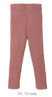 Organic Merino Wool Knitted Leggings Color: Rose