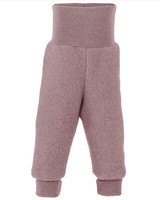 Organic Wool Fleece Pants with High Waistband Color:  051E rosewood melange