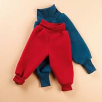 Organic Wool Fleece Pants with High Waistband