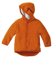 Disana Organic Boiled Wool Jacket Color: Orange