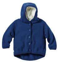 Disana Organic Boiled Wool Jacket Color: Navy