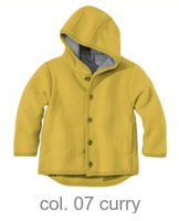 Disana Organic Boiled Wool Jacket Color: Curry