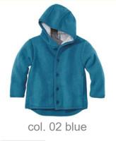 Disana Organic Boiled Wool Jacket Color: Blue