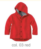 Disana Organic Boiled Wool Jacket Color: Red