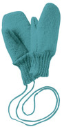 Boiled Wool Mittens Color: Lagoon