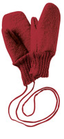 Boiled Wool Mittens Color: Bordeaux
