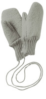 Boiled Wool Mittens Color: Grey