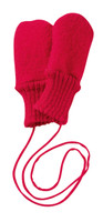 Boiled Wool Mittens Color: Red