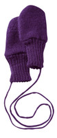 Boiled Wool Mittens Color: Plum