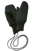 Boiled Wool Mittens Color: Anthracite