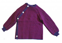 Aubergine/ Berry Stripes