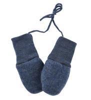 Organic Wool Fleece Baby Mittens Color:  080 Blue Melange