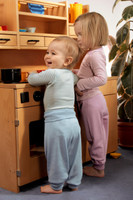 Organic Wool / Silk Baby Pants Color: Blue Pants (left), Lilac Pants (right)