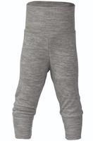 Organic Wool / Silk Baby Pants Color: Light Grey Melange