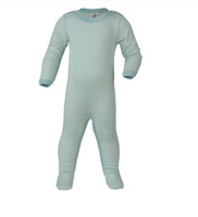 Organic Wool/ Silk Footed Pajamas Color: 3001E gltscher/natur