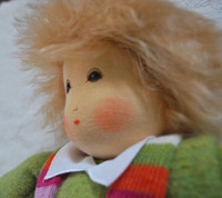 Organic Cotton Waldorf Doll- Wintertime Boy with Overalls