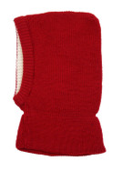 Organic Merino Wool Balaclava Color: Burgandy Red