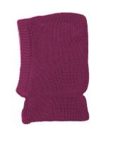 Organic Merino Wool Balaclava Color: Berry