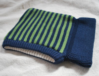 Navy/ Apple Green Stripes
