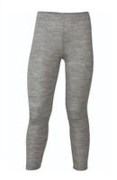 Organic Wool/ Silk Children's Leggings Color: Light Grey Melange