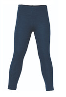 Organic Wool/ Silk Children's Leggings Color: Light Ocean