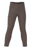 Organic Wool/ Silk Children's Leggings Color: Walnut