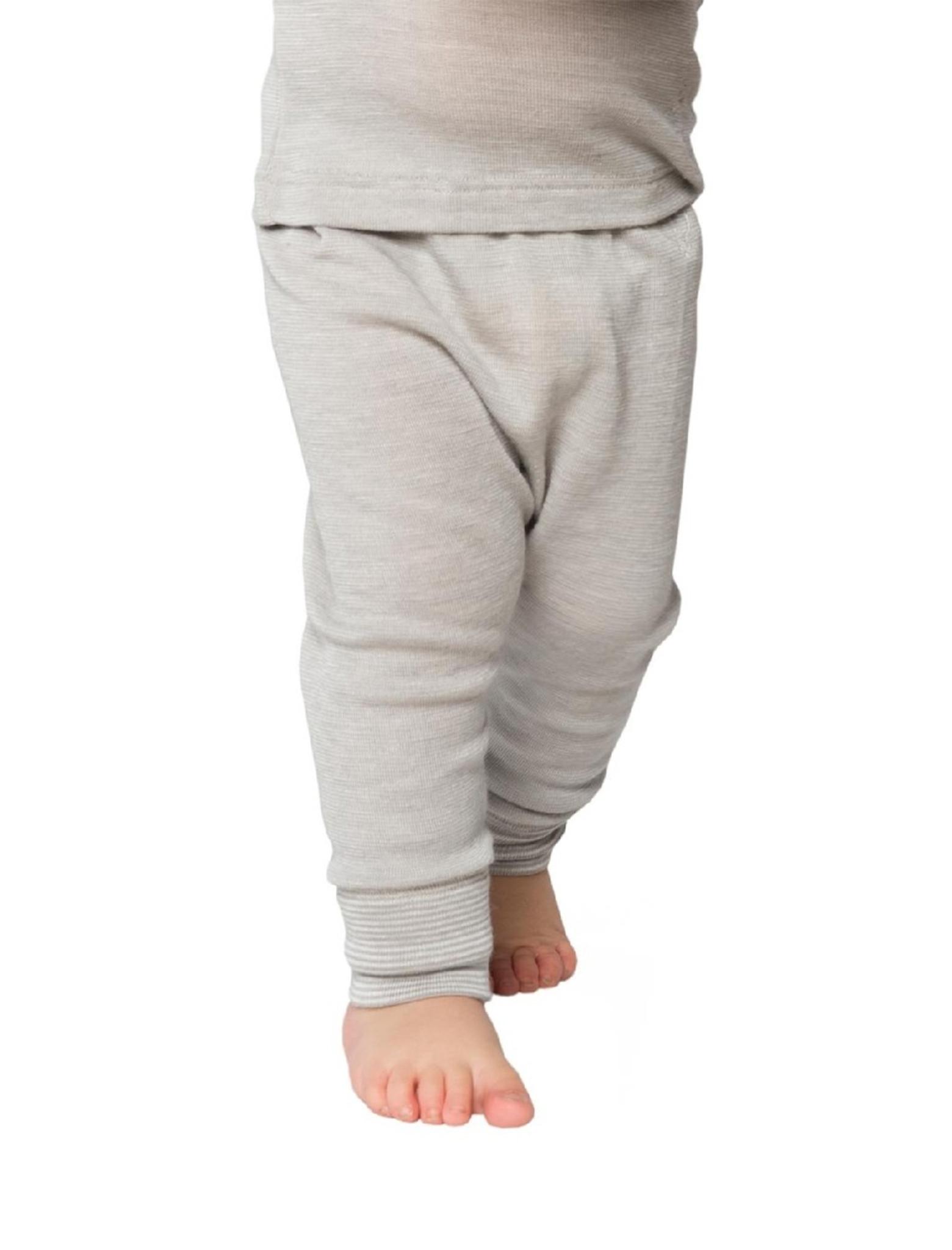 Germany Kids Wool /& Silk Long John Pants Living Crafts Organic Textiles