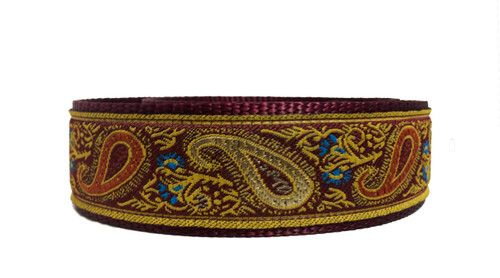 "1.5"" Burgundy Paisley Elite Collar"