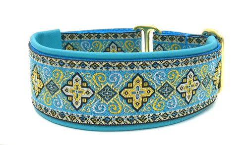 "1.5"" Aqua and Butter Croix Elite Collar"