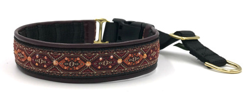 "1"" Ankara Maroon Swarovski Private Prong Collar"