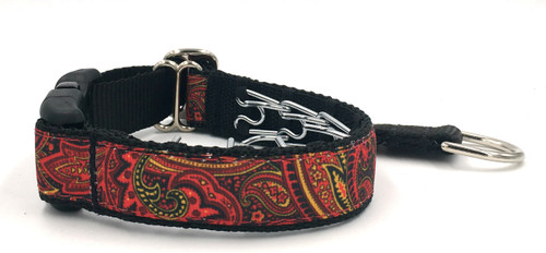 """Fire Paisley 1"""" Private Prong Collar"""