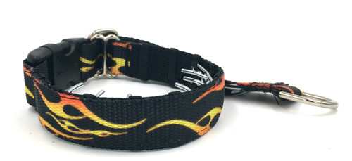 """Flames 1"""" Private Prong Collar"""