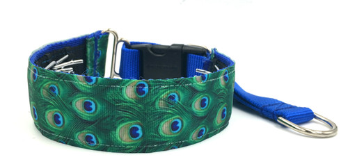 """Peacock 1.5"""" Private Prong Collar"""