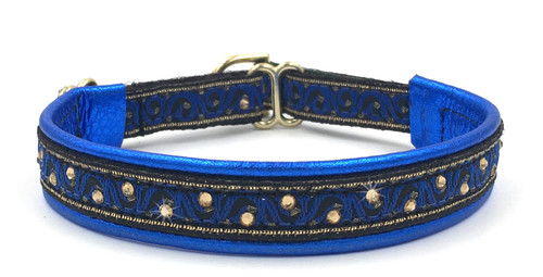 "1/2"" Royal Blue Wave Swarovski Collar"