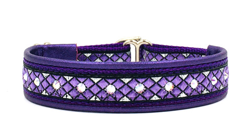 "1/2"" Purple Parquet Swarovski Collar"